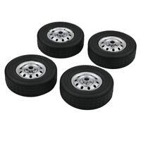 4Pcs Original Wheel Tire Reifen Räder Für WPL D12 1/10 RC Car Auto Upgrade Teile