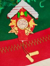 Vintage Christmas CUCKCOO CLOCK ORNAMENT