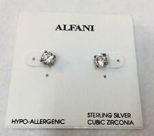Alfani Stud Earrings Sterling Silver CZ Cubic Zirconia Hypo Allergenic