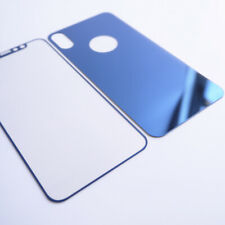 Premium Front and Back Colored Mirror Tempered Glass Screen Protector iPhone X