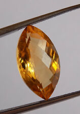 1 Pcs AAA Natural Citrine Marquise 10x18mm 5.50Cts Faceted Cut Loose Gemstone