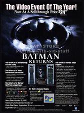 BATMAN RETURNS__Original 1992 Trade print AD / promo__MICHAEL KEATON__PFEIFFER