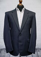 Skopes Single Breasted Blue Pinstripe Suit Jacket 42 Regular