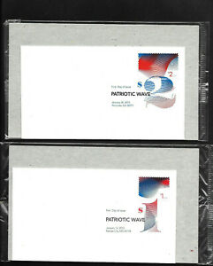 US FDC 2015 $1 $2 Waves 2 Unaddressed Uncacheted Covers Unopened USPS Package |