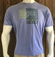 The Eagles Men's XL Tshirt Blue Short Sleeve Concert Tour 2003 Merch Band