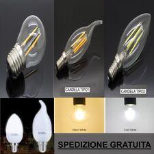 4W 8W 12W 16W LAMPADINA CANDELA CLASSICA LED ATTACCO E27 E14 ANCH DIMERABILE