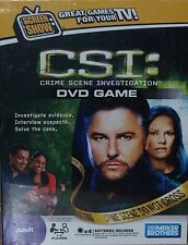 CSI: DVD Game Parker Brothers 1-6 players Great Games for your TV Crime