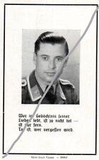 STERBEBILD   AVIS DE  DECES  SOLDAT  ALLEMAND   TOULOUSE  1944    ( 136 )