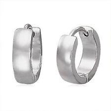 Silver Hoop Earrings for Men