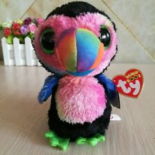 """6"""" TY Beanie Boos New Beaks 2017 Toucan Colored With tag Plush Toys"""