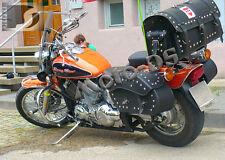 Motorcycle Leather Seddlebags/Panniers Yamaha XVS 650 (V Star 650) Dragstar C/C