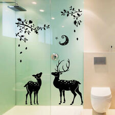 Deer Silhouette Removable Quotes Wall Stickers Art Decals Home Christmas Decor &