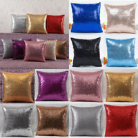 Glitter Sequins Pillow Case Throw Waist Cushion Cover Cafe Car Home Decorations