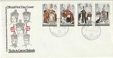 1978 Turks&Caicos Isl FDC cover 25th Anniversary Coronation Queen Elizabeth II