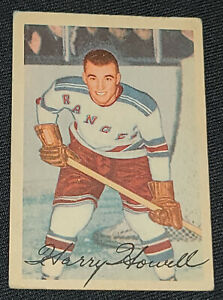 1953-1954 - PARKHURST - HARRY HOWELL - NEW YORK RANGERS - ROOKIE HOCKEY CARD #57