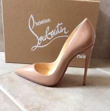 Christian Louboutin Authentic So Kate Nude 37 Patent Leather