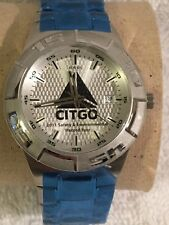New Stainless Fossil men's watch CITGO gas logo safety 10 ATM 2011 Record Year