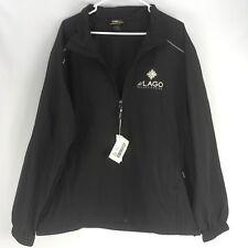 Core North End Mens XL Windbreaker Jacket Coat Black Del Lago Casino Resort