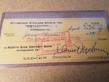 Pittsburgh Steelers bank check: SIGNED by DAN ROONEY - JSA CERTIFIED