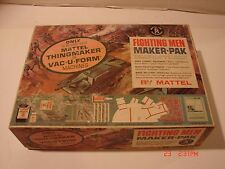 VINTAGE MATTEL THINGMAKER VACUFORM FIGHTING MEN PACK METAL MOLDS MILITARY MOLD