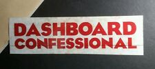 Dashboard Confessional Red Clear See Through Music 2x 7 Sticker