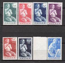 MONACO - 1946 N° 287 A 292 + 293 - NEUF SANS TRACE DE CHARNIERE COTE 13,5€