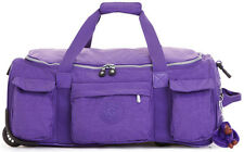 Kipling Discover S Carry On Collapsible Wheeled Duffel Bag Luggage - Prec Purple