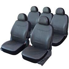 Housse siège auto universelle spéciale MONOSPACE 5 places en simili cuir GRIS