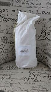 Restoration Hardware Baby Crib Skirt Soft Pink Linen/Cotton French Country NIP