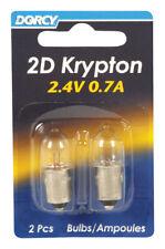 Dorcy  2D  Krypton  Flashlight Bulb  2.4 volt Bayonet Base