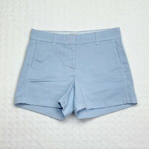 """J. CREW NWT Women's Faded Chambray Blue 4"""" Stretch Cotton Chino Shorts Size 8"""