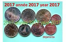 SLOVÉNIE série complète 2017: 8 pièces euro 1 cent à 2€ de coffret BU disponible