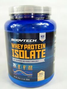 Bodytech Whey Protein Isolate Oranges and Cream Flavor 24 oz Sealed Exp 09/2021