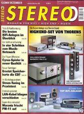 Stereo 12/08  Marantz PM-11 S2, Mission Cyrus CD 8 SE, Thorens TD 550 / TEP 302