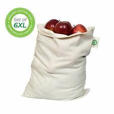 Food Grade Bulk Storage Bags - Reusable - Organic Cotton Fabric Produce