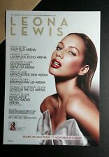 LEONA LEWIS SEXY TOUR SCHEDULE MODEST 6x8 MUSIC PHOTO PICTURE FLYER AD SM POSTER