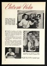 Violectra 1964 Barcus-Berry Electric Violin vintage pictorial