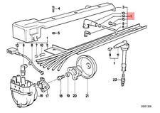 Genuine BMW E34 Sedan Ignition Spark Plug Wire 1pcs OEM 12121312680