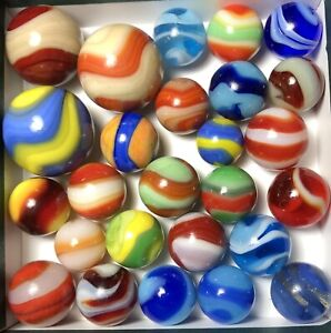 Marbles: Great Group Akro Agate Corkscrew Marbles!!