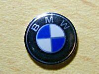 4 High Quality Glossy BMW Crystal Gell Badge 3D Emblem Sticker Remote 14mm Round