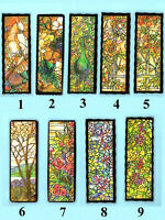 Bookmark Tiffany Style Peacock Cockatoos Parrot Bird Stained Glass Window Gifts