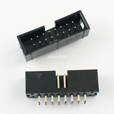 20Pcs 2.54mm 2x8 Pin 16 Pin Straight Male Shrouded Box Header PCB IDC Connector