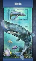Sierra Leone - 2018 Whales on Stamps - Stamp Souvenir Sheet SRL18101b