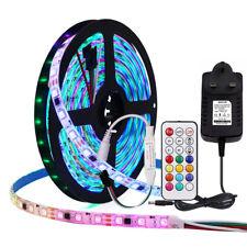 WS2811 Addressable Dream Color 1-5M 5050 RGB Pixel IC LED Strip Lights 12V Plug