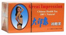 4 Confezioni di ottimo Impressione Cinese Salute tè dimagrante 80 tè