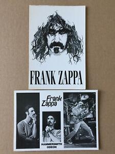 Lot  2  Cartes Postales   FRANK ZAPPA   Postcards