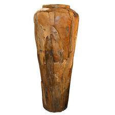 4FT Reclaimed Teak Wood Large Driftwood Farmhouse Decorative Garden Vase