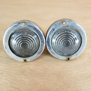 Jaguar MK10 Mark X Original Side Indicator Circle Light Lucas 461 Set of 2 OEM