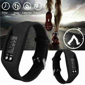 LCD Wrist Watch Pedometer Digital Sports Step Distance Calorie Counter Bracelet