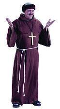 Adult Medieval Monk Priest Hooded Robe Caplet Costume Fw5431